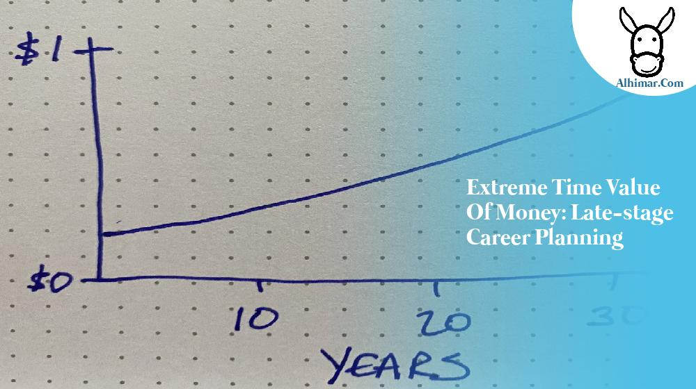 Extreme Time Value of Money: Late-stage Career Planning