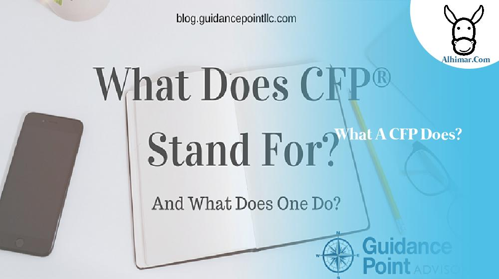 What a CFP does?