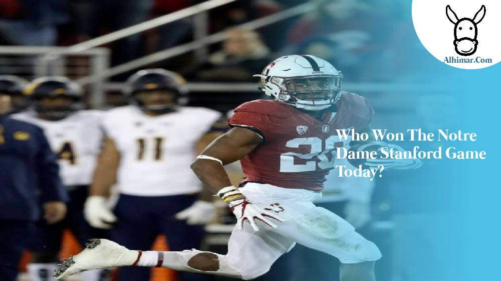 Who won the Notre Dame Stanford game today?