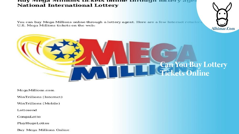 can you buy lottery tickets online
