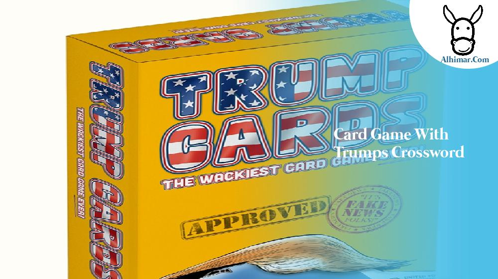 card game with trumps crossword