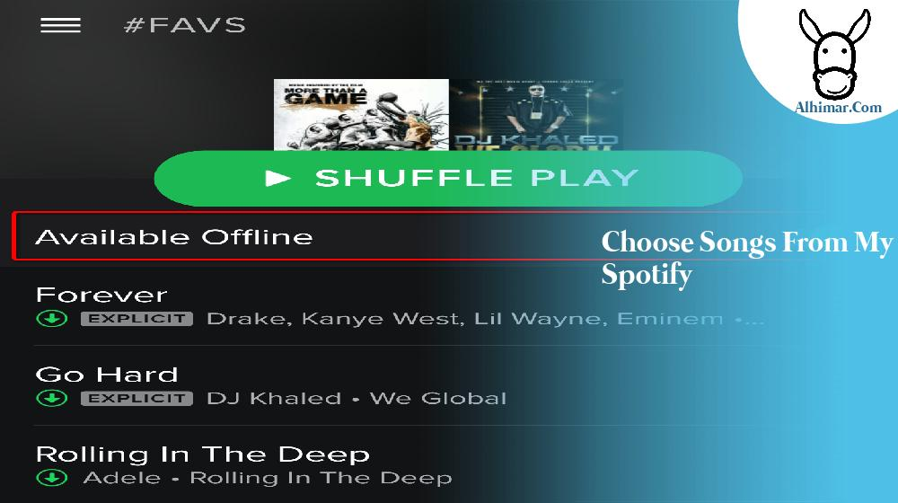 choose songs from my spotify