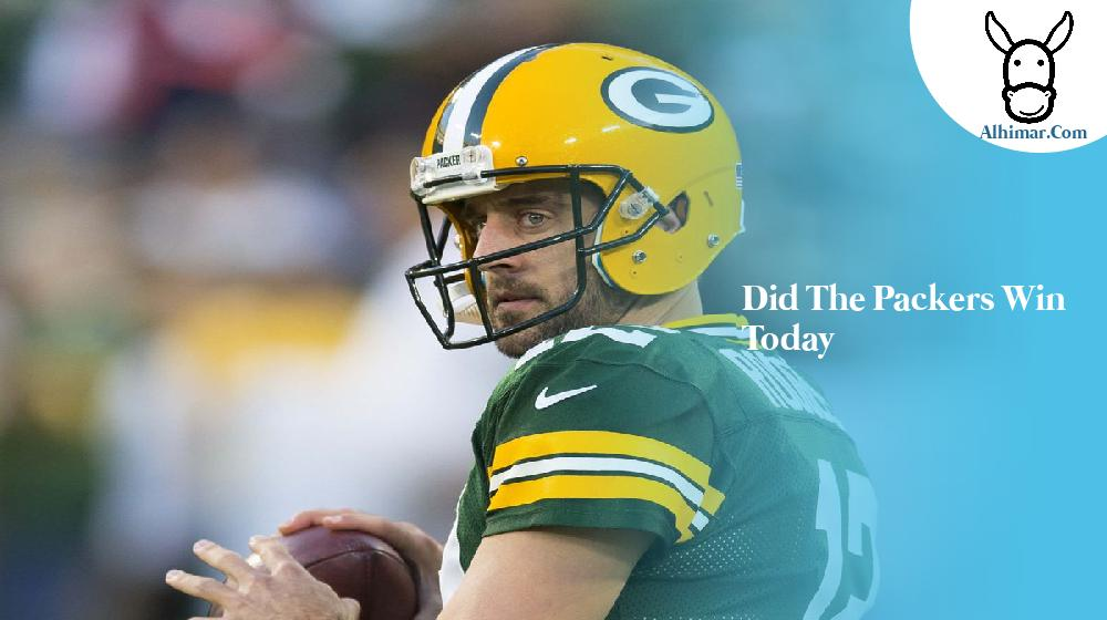 did the packers win today