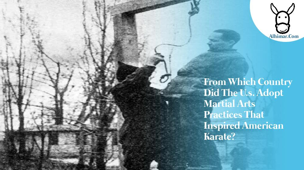 from which country did the u.s. adopt martial arts practices that inspired american karate?
