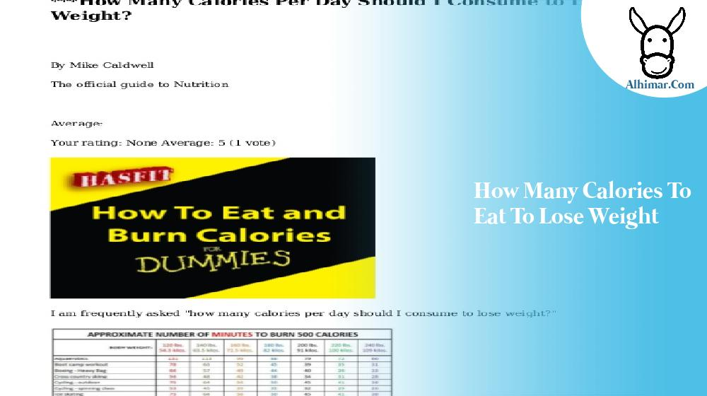 how many calories to eat to lose weight