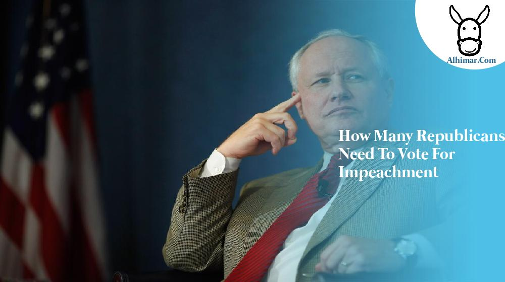 how many republicans need to vote for impeachment