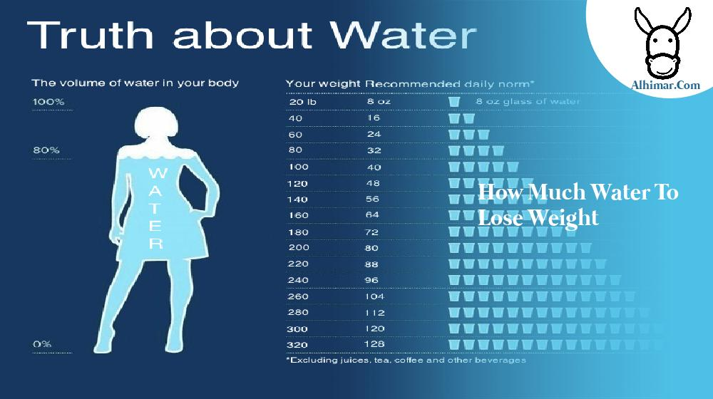 how much water to lose weight