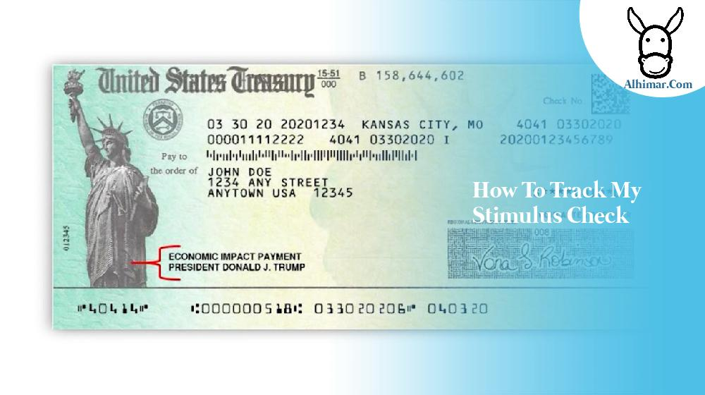 how to track my stimulus check