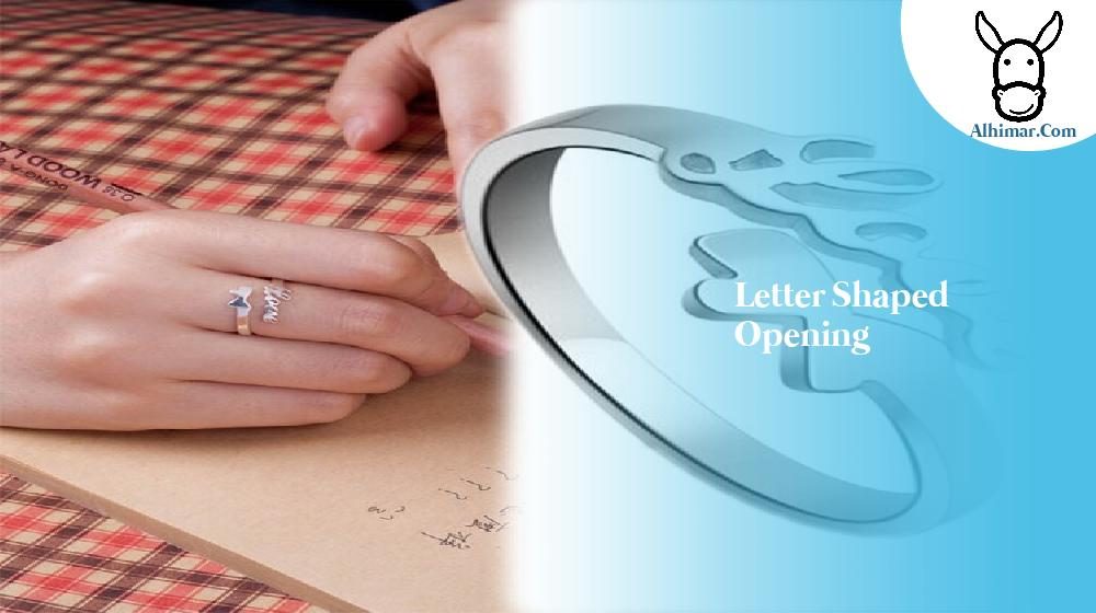 letter shaped opening