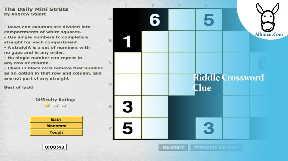 riddle crossword clue