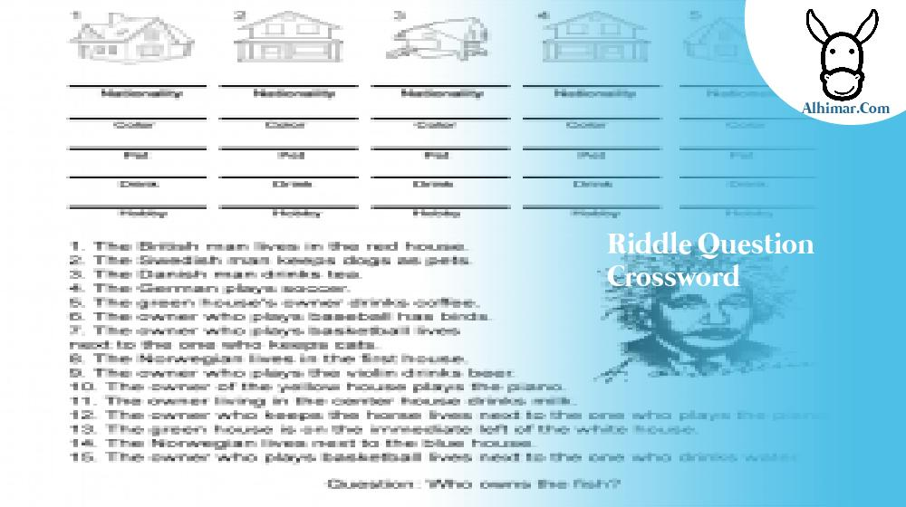 riddle question crossword