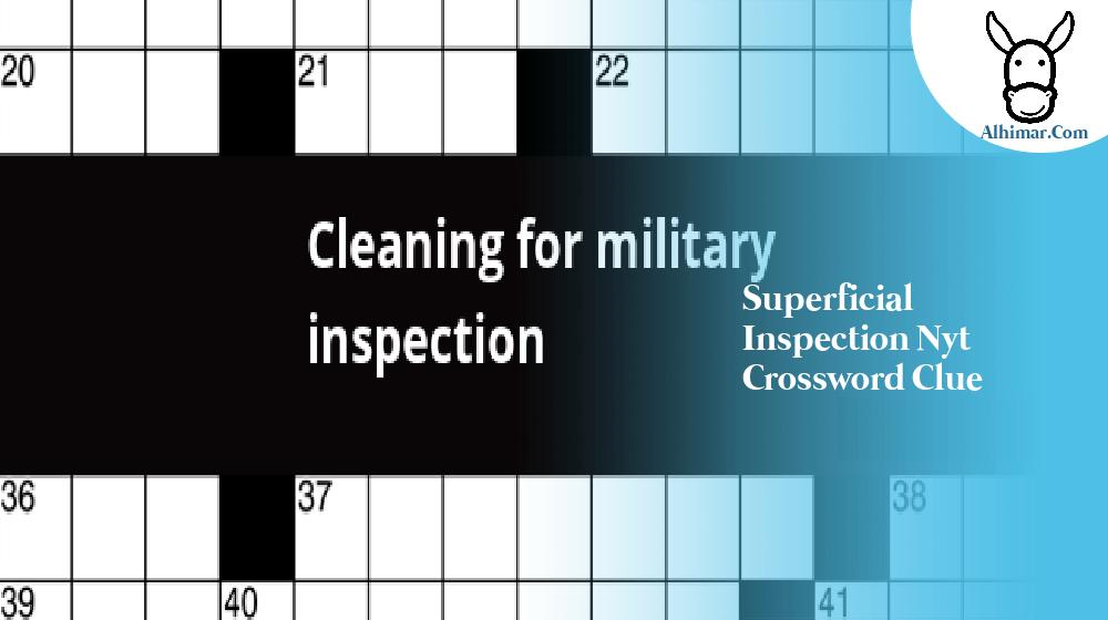 superficial inspection nyt crossword clue