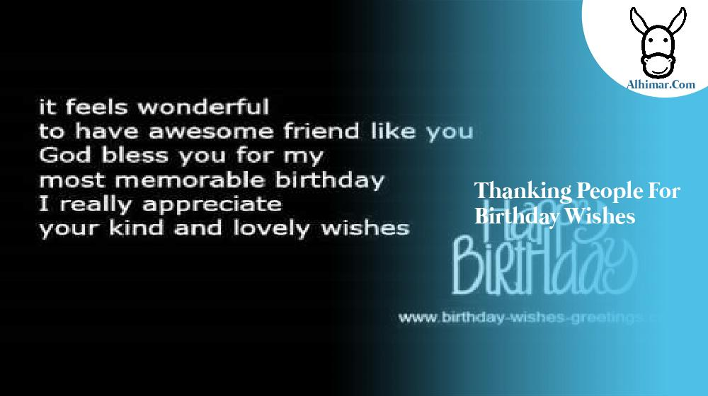 thanking people for birthday wishes