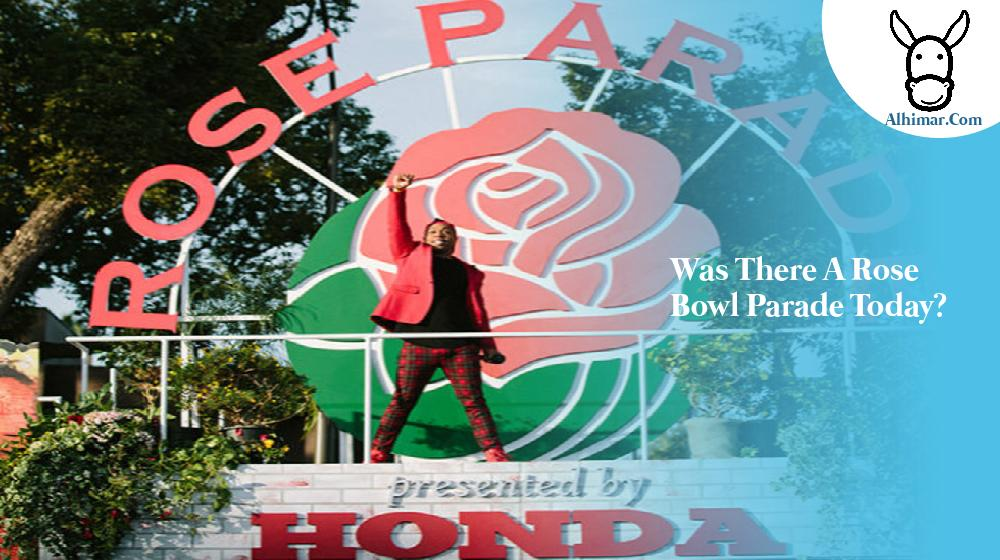 was there a rose bowl parade today?