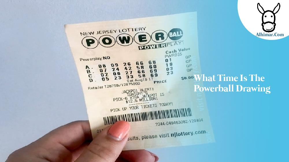 what time is the powerball drawing