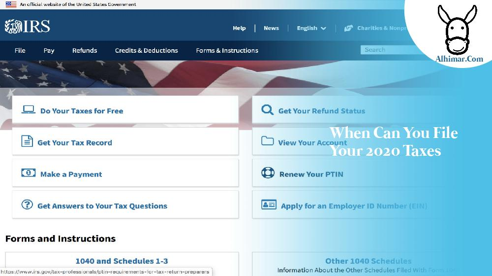 when can you file your 2020 taxes