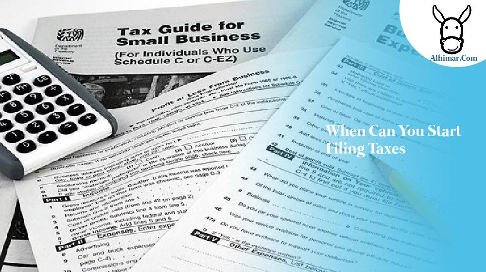 when can you start filing taxes