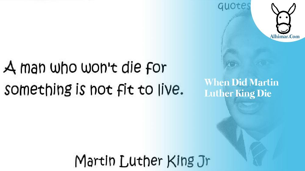 when did martin luther king die