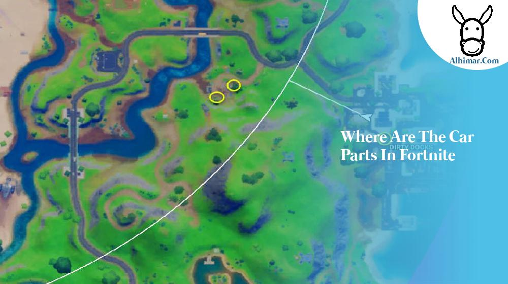 where are the car parts in fortnite