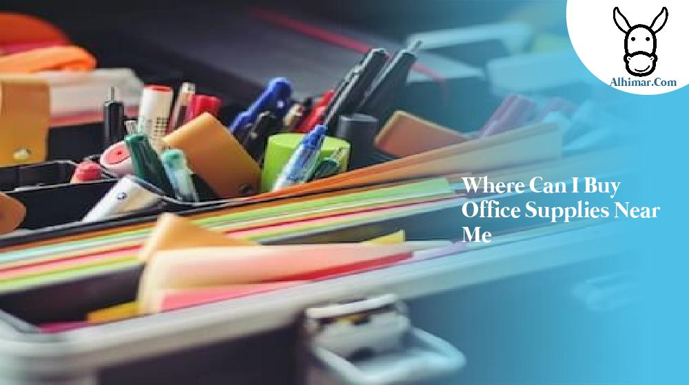 where can i buy office supplies near me