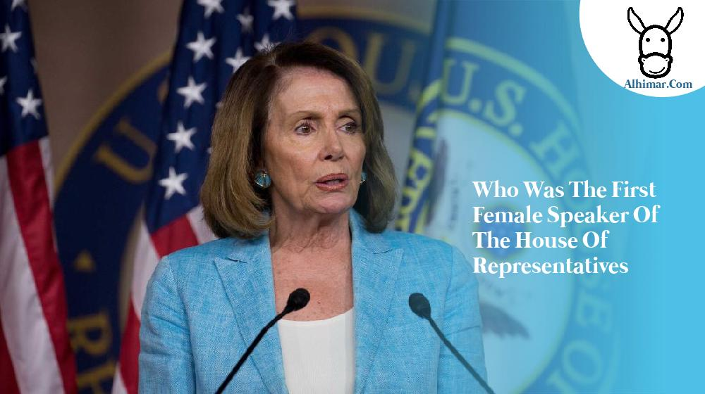 who was the first female speaker of the house of representatives