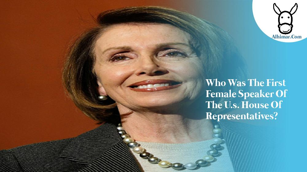 who was the first female speaker of the u.s. house of representatives?