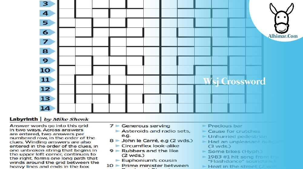 wsj crossword