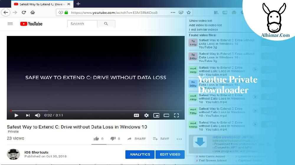 youtue private downloader
