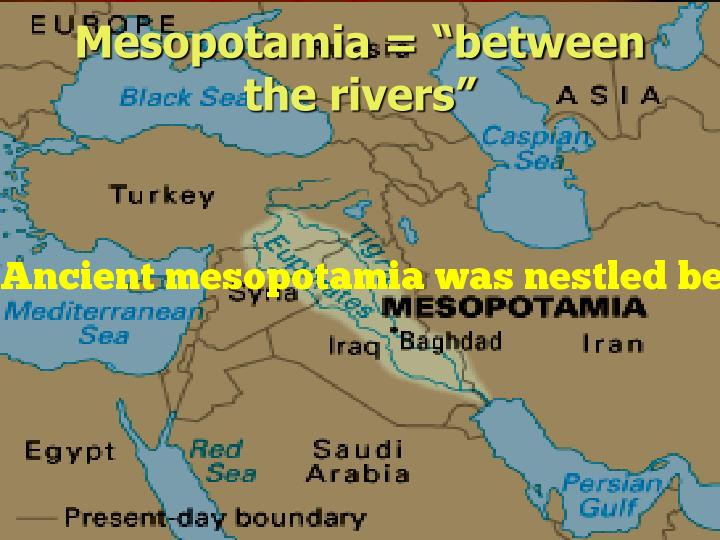 Ancient mesopotamia was nestled between which two rivers?