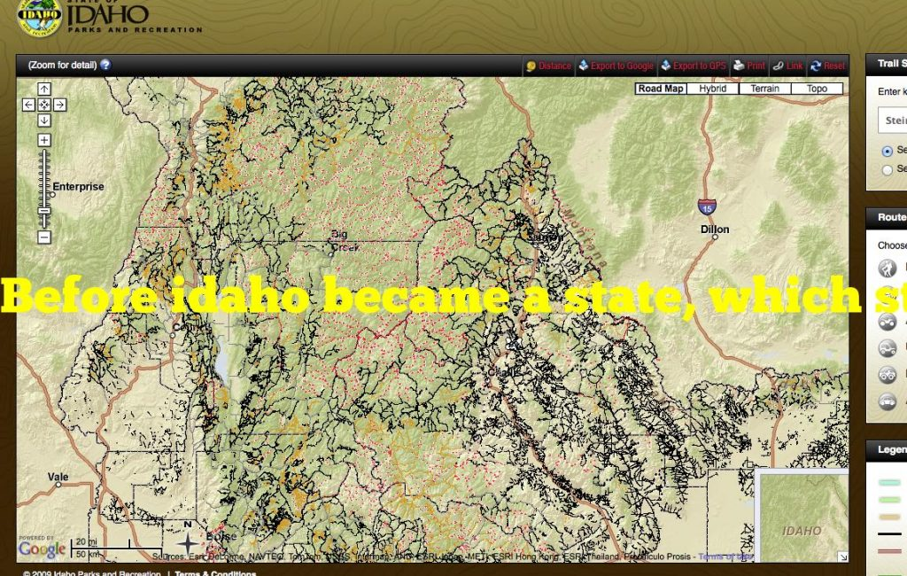 Before idaho became a state, which state was almost named idaho?