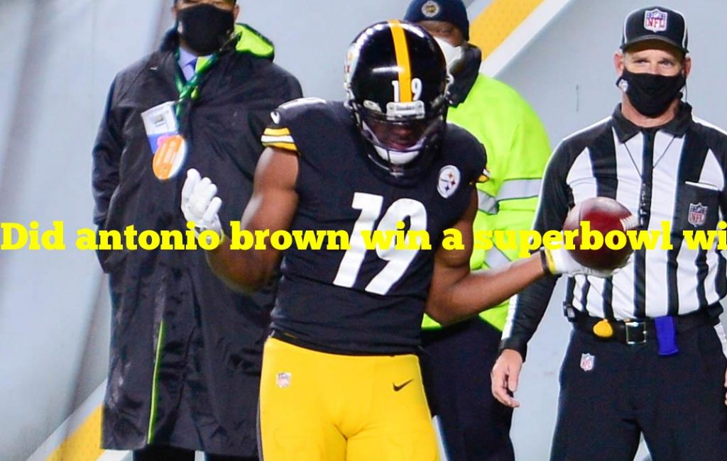 Did antonio brown win a superbowl with the steelers