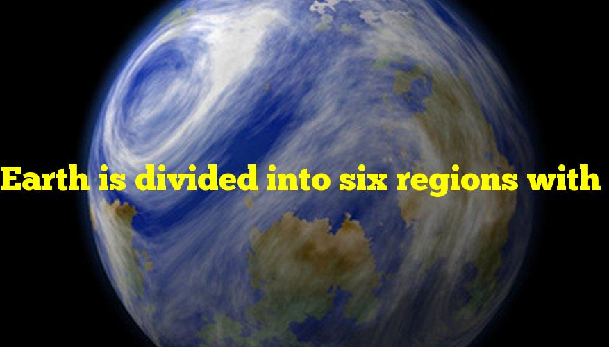 Earth is divided into six regions with distinct plant life, which are also known as what?