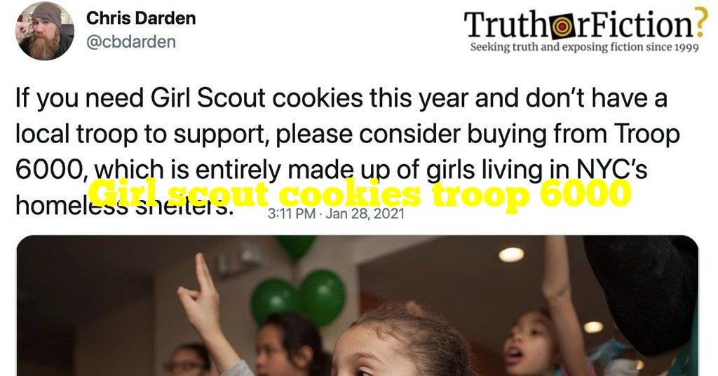 Girl scout cookies troop 6000