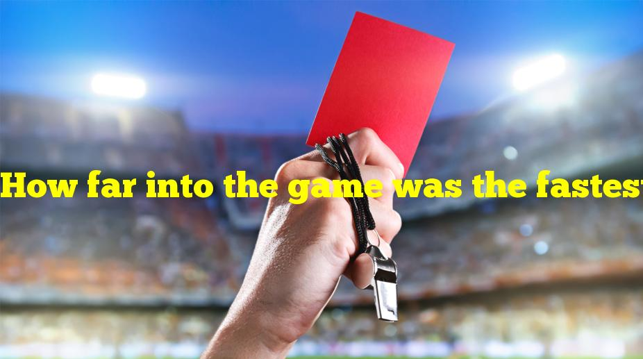 How far into the game was the fastest red card in World Cup history?