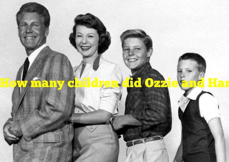 How many children did Ozzie and Harriet Nelson have?