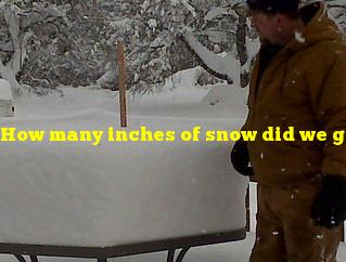 How many inches of snow did we get last night