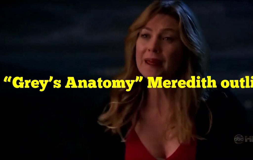 """In """"Grey's Anatomy"""" Meredith outlines what for Derek using candles?"""