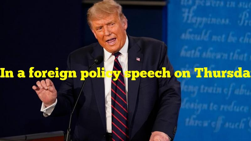 """In a foreign policy speech on Thursday, President Biden called what country the """"most serious competitor"""" to the United States?"""