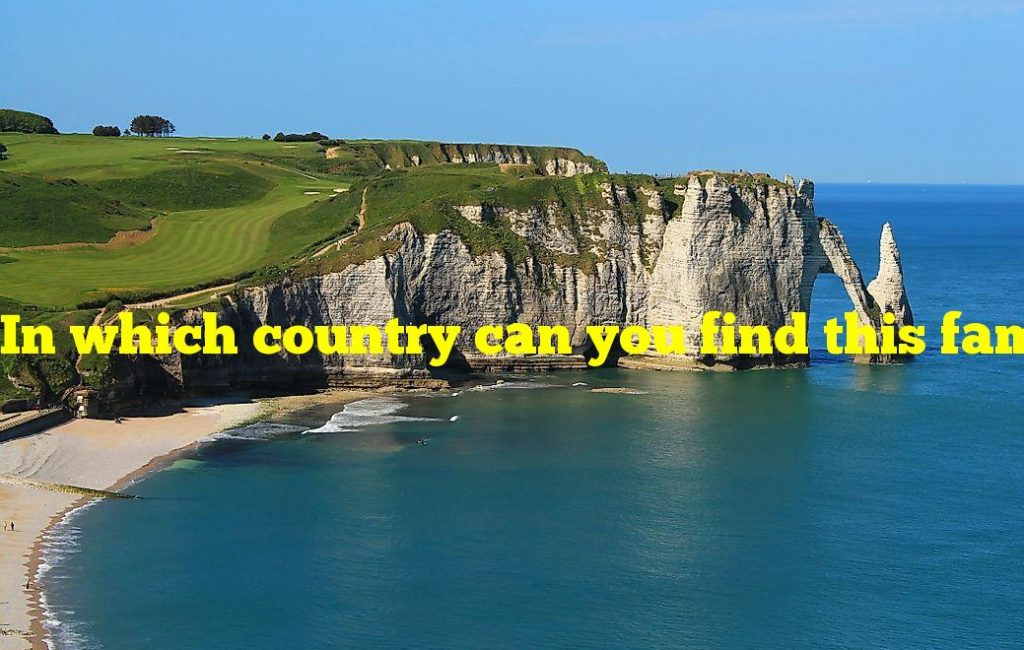 In which country can you find this famous ocean cliff?