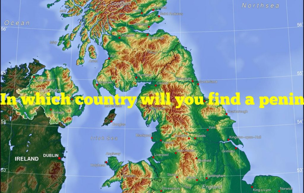 In which country will you find a peninsula called land's end?