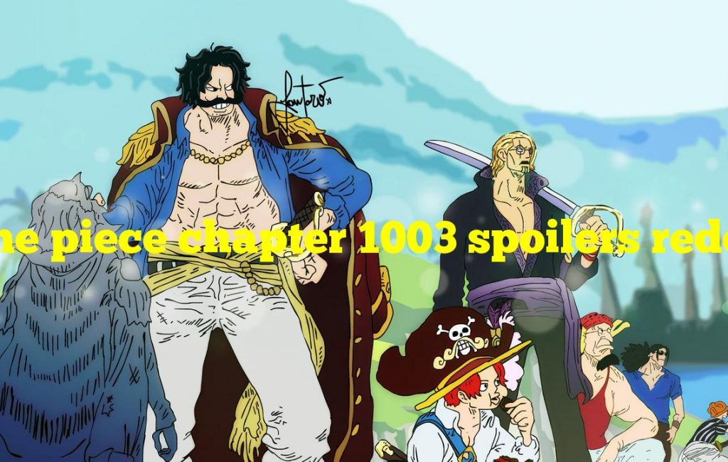 One piece chapter 1003 spoilers reddit