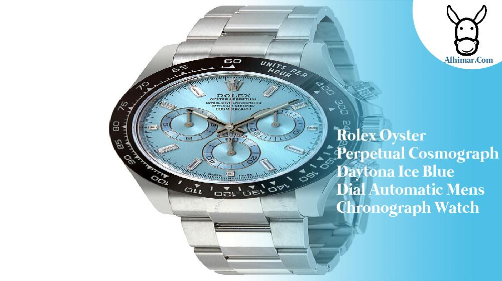 Rolex Oyster Perpetual Cosmograph Daytona Ice Blue Dial Automatic Mens Chronograph Watch