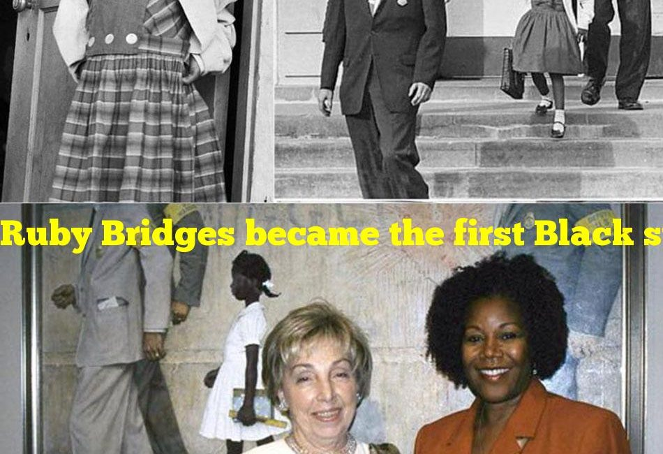 Ruby Bridges became the first Black student to do what?