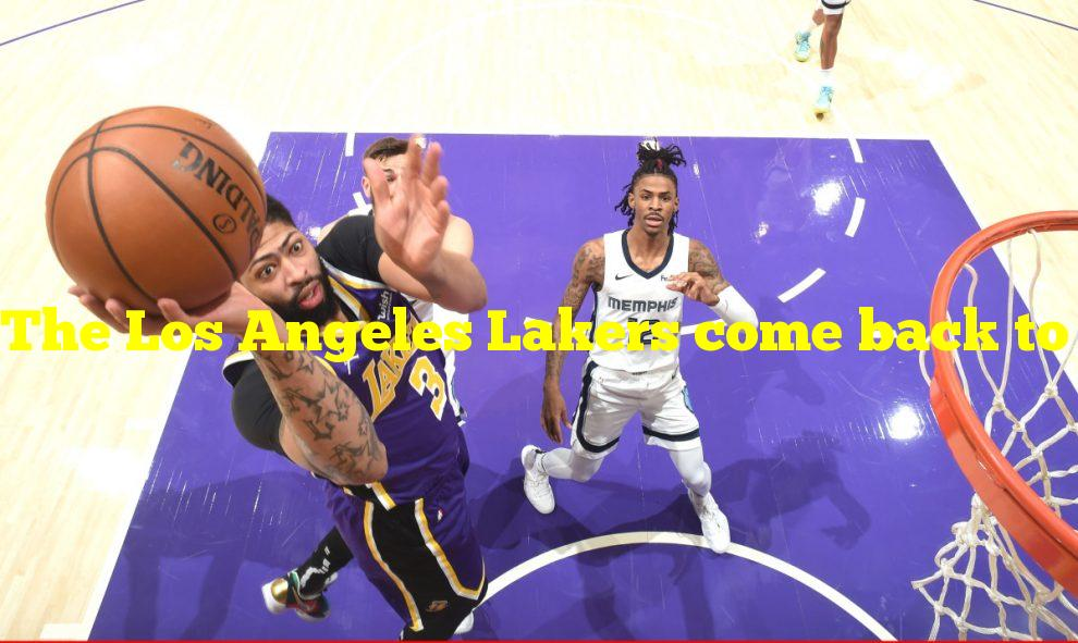 The Los Angeles Lakers come back to defeat the Memphis Grizzlies 115-105 behind 35 points from Anthony Davis