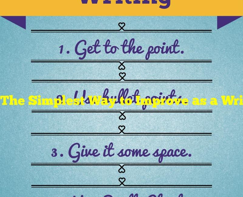 The Simplest Way to Improve as a Writer
