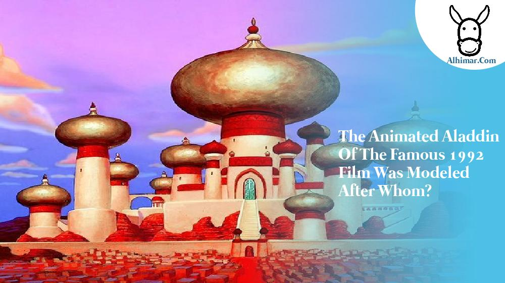 The animated Aladdin of the famous 1992 film was modeled after whom?