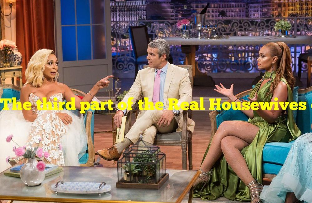 The third part of the Real Housewives of Salt Lake City reunion airs on Bravo