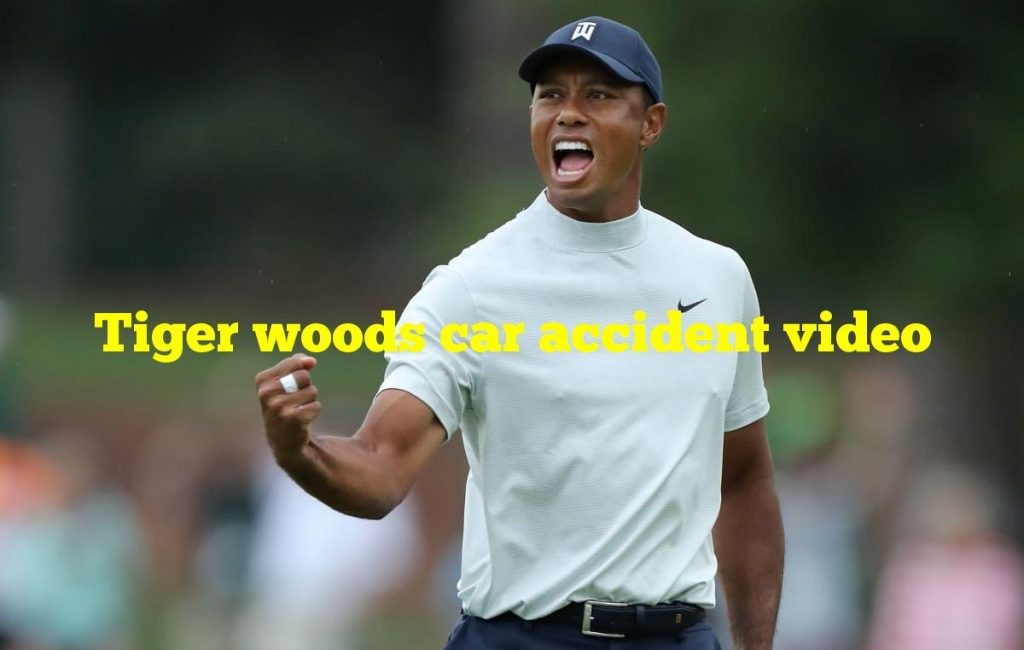 Tiger woods car accident video