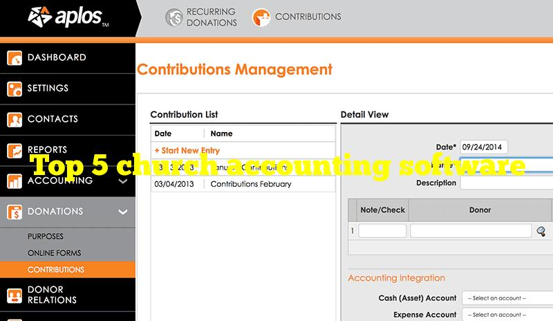 Top 5 church accounting software