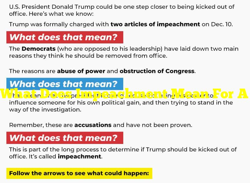 What Does Impeachment Mean For A President